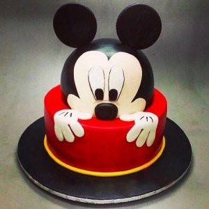 Micky mouse kids birthday cake